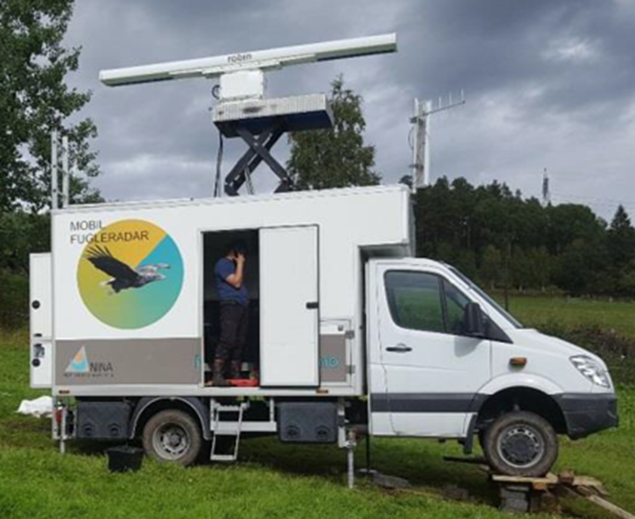 Mobile bird radar collects data on local birds' flight patterns