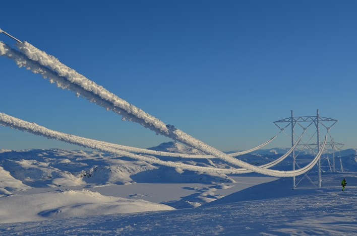 Icing on power lines